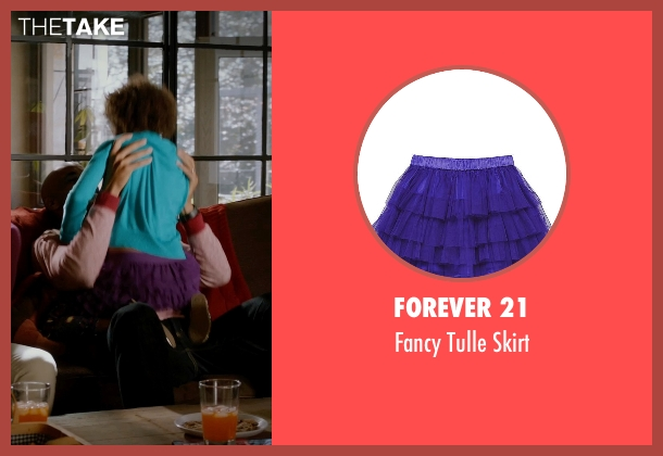 Forever 21 purple skirt from Addicted seen with Unknown Actor (Unknown Character)