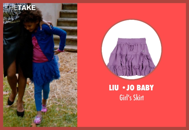 Liu •Jo Baby purple skirt from Addicted seen with Unknown Actor (Unknown Character)