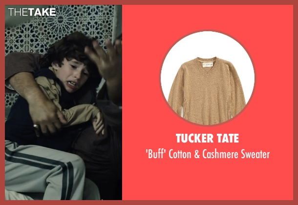 Tucker Tate brown sweater from American Sniper seen with Unknown Actor (Unknown Character)