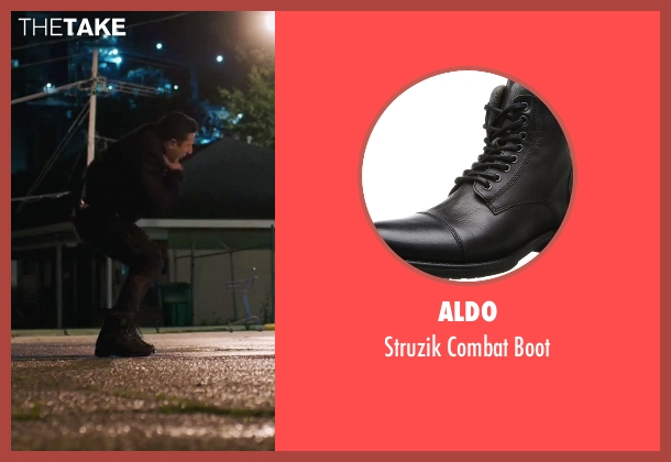 Aldo black boot from American Ultra seen with Unknown Actor (Unknown Character)