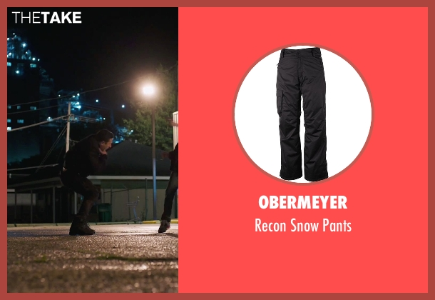 Obermeyer black pants from American Ultra seen with Unknown Actor (Unknown Character)