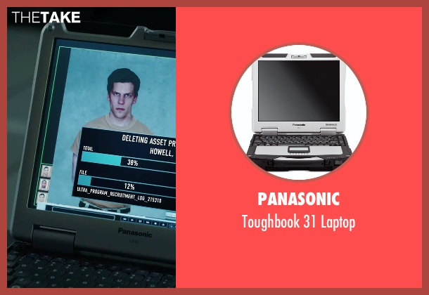 Panasonic laptop from American Ultra seen with Unknown Actor (Unknown Character)