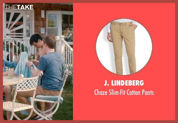 J. Lindeberg beige pants from And So It Goes seen with Unknown Actor (Unknown Character)