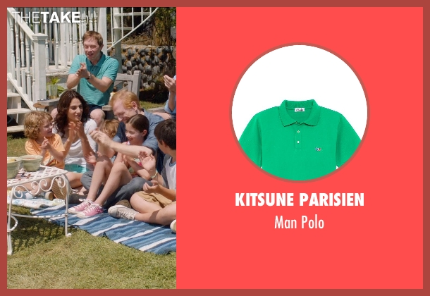 Kitsune Parisien green polo from And So It Goes seen with Unknown Actor (Unknown Character)