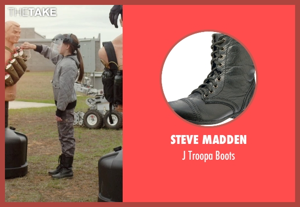 Steve Madden black boots from Barely Lethal seen with Unknown Actor (Unknown Character)