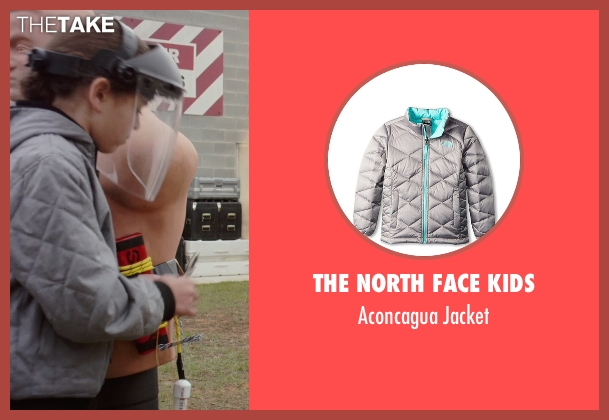 The North Face Kids gray jacket from Barely Lethal seen with Unknown Actor (Unknown Character)