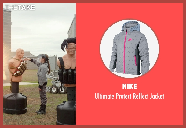 Nike gray jacket from Barely Lethal seen with Unknown Actor (Unknown Character)
