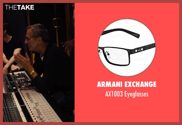 Armani Exchange black eyeglasses from Begin Again seen with Unknown Actor (Unknown Character)