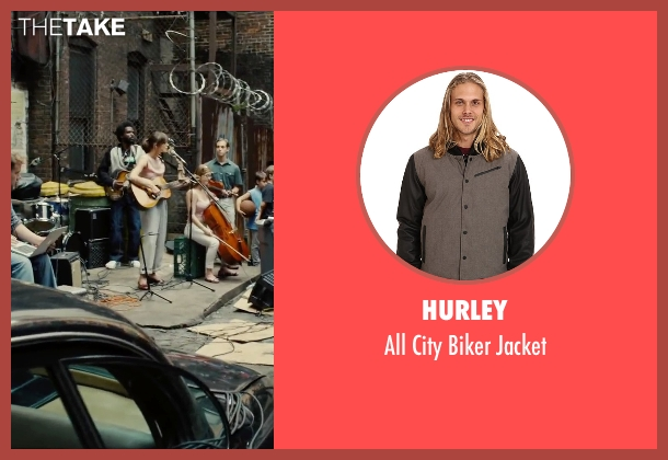 Hurley black jacket from Begin Again seen with Unknown Actor (Unknown Character)