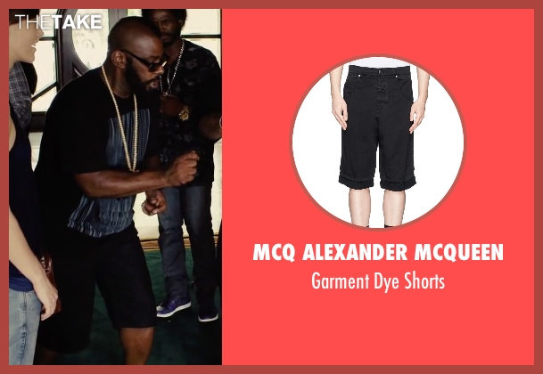 MCQ Alexander McQueen black shorts from Begin Again seen with Unknown Actor (Unknown Character)