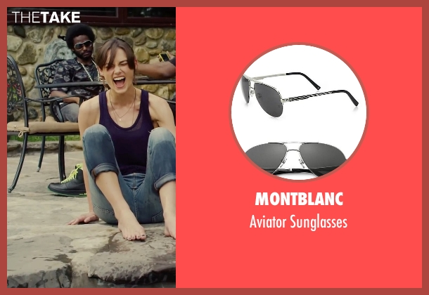 Montblanc black sunglasses from Begin Again seen with Unknown Actor (Unknown Character)