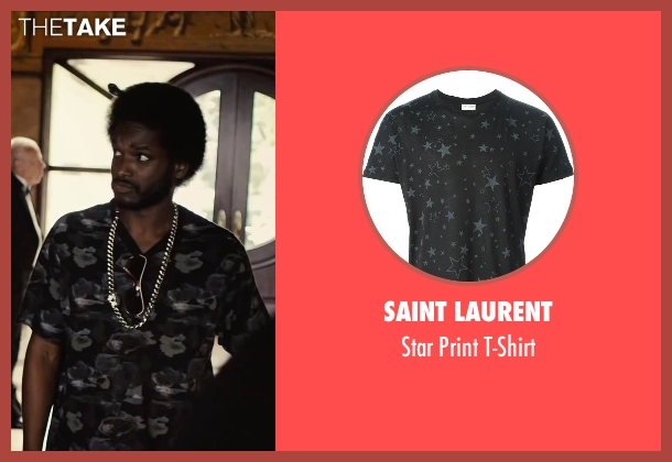 Saint Laurent black t-shirt from Begin Again seen with Unknown Actor (Unknown Character)