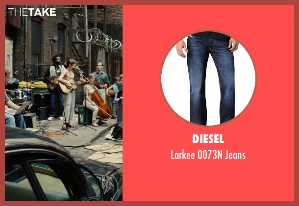Diesel	 blue jeans from Begin Again seen with Unknown Actor (Unknown Character)