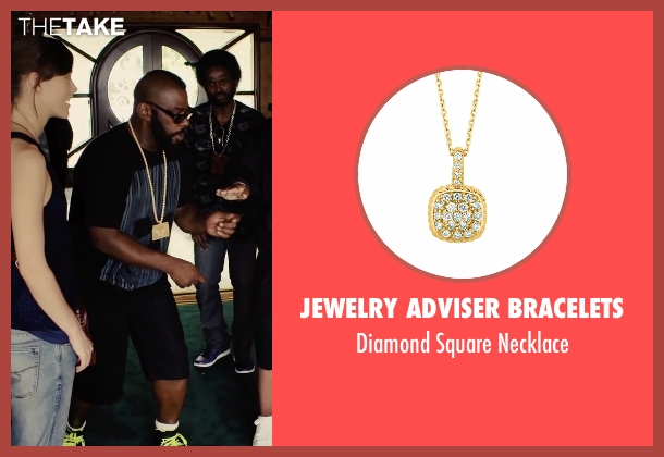 Jewelry Adviser Bracelets gold necklace from Begin Again seen with Unknown Actor (Unknown Character)