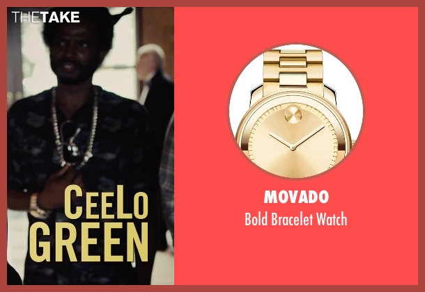 Movado gold watch from Begin Again seen with Unknown Actor (Unknown Character)