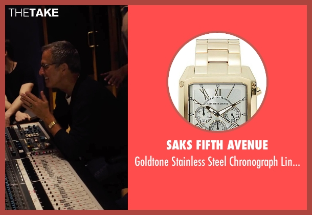 Saks Fifth Avenue gold watch from Begin Again seen with Unknown Actor (Unknown Character)
