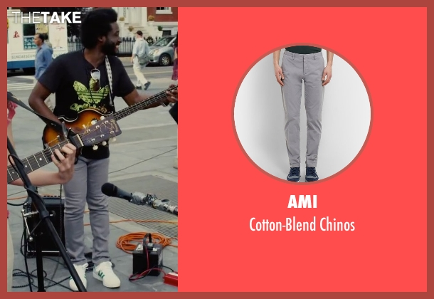 Ami gray chinos from Begin Again seen with Unknown Actor (Unknown Character)