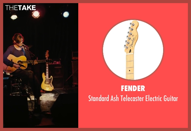Fender guitar from Begin Again seen with Unknown Actor (Unknown Character)