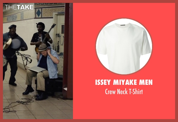 Issey Miyake Men white t-shirt from Begin Again seen with Unknown Actor (Unknown Character)