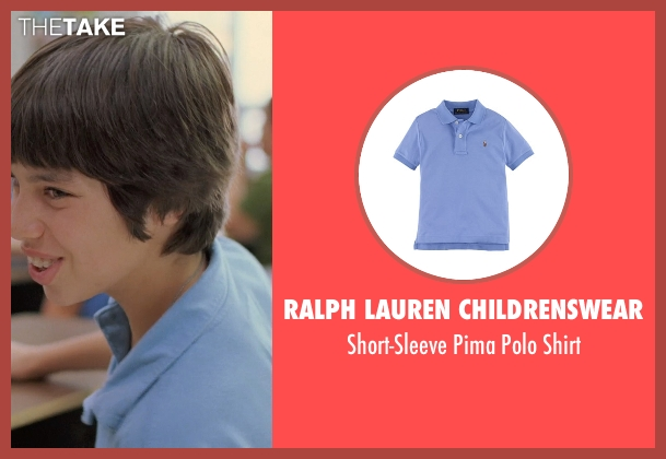 Ralph Lauren Childrenswear blue shirt from Boyhood seen with Unknown Actor (Unknown Character)