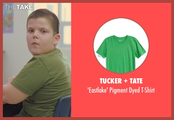 Tucker + Tate green t-shirt from Boyhood seen with Unknown Actor (Unknown Character)