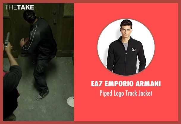 EA7 Emporio Armani black jacket from Brick Mansions seen with Unknown Actor (Unknown Character)
