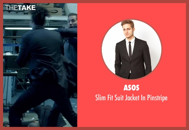 ASOS black pinstripe from Brick Mansions seen with Unknown Actor (Unknown Character)