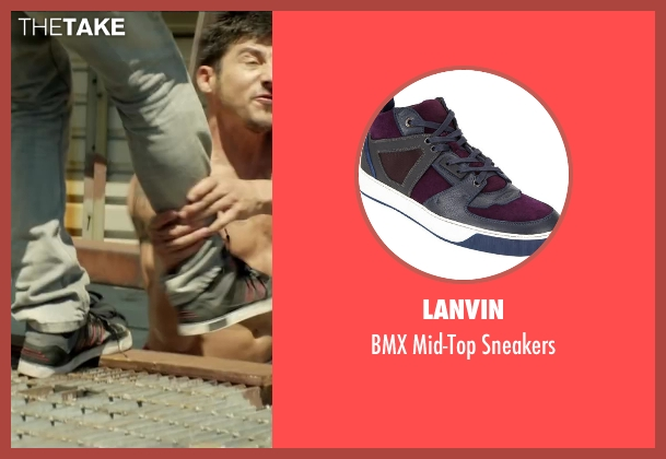LANVIN black sneakers from Brick Mansions seen with Unknown Actor (Unknown Character)