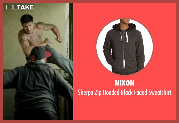 NIXON black sweatshirt from Brick Mansions seen with Unknown Actor (Unknown Character)