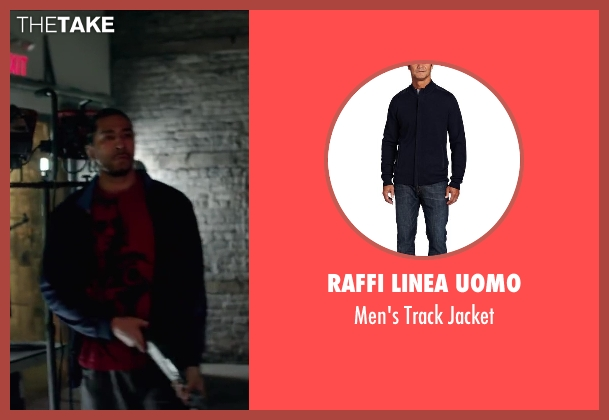 Raffi Linea Uomo blue jacket from Brick Mansions seen with Unknown Actor (Unknown Character)