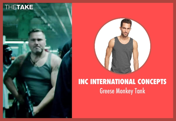 INC International Concepts gray tank from Brick Mansions seen with Unknown Actor (Unknown Character)