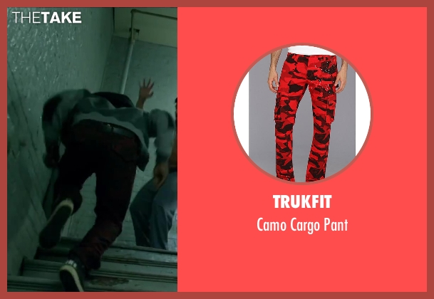 Trukfit red pant from Brick Mansions seen with Unknown Actor (Unknown Character)