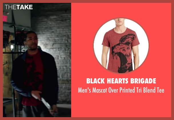 Black Hearts Brigade red tee from Brick Mansions seen with Unknown Actor (Unknown Character)