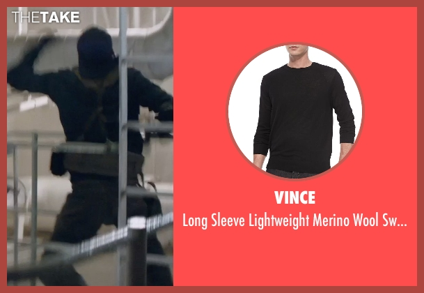 Vince black sweater from Captain America: The Winter Soldier seen with Unknown Actor (Unknown Character)