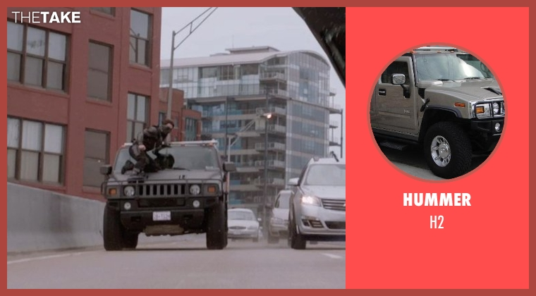 Hummer h2 from Captain America: The Winter Soldier seen with Unknown Actor (Unknown Character)