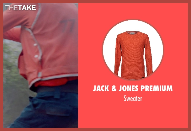 JACK & JONES PREMIUM orange sweater from Captain America: The Winter Soldier seen with Unknown Actor (Unknown Character)