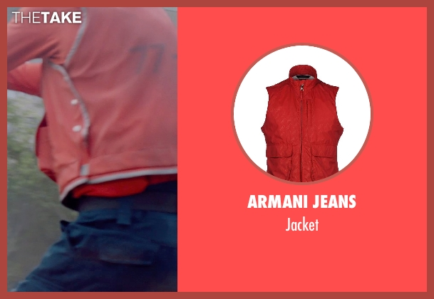 ARMANI JEANS red jacket from Captain America: The Winter Soldier seen with Unknown Actor (Unknown Character)