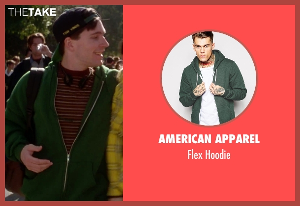 American Apparel green hoodie from Clueless seen with Unknown Actor (Unknown Character)