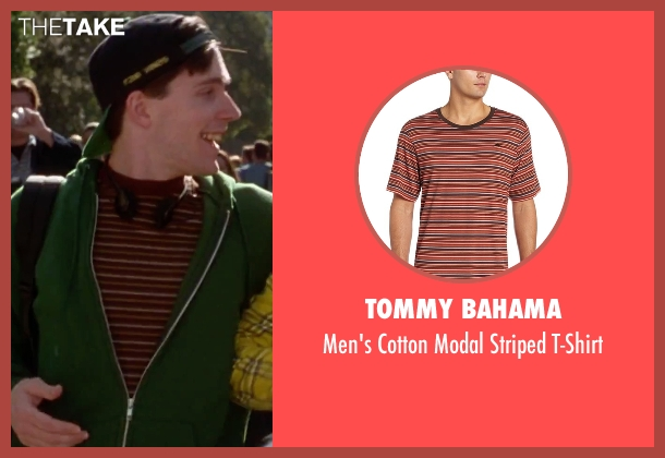 Tommy Bahama red t-shirt from Clueless seen with Unknown Actor (Unknown Character)