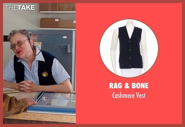 Rag & Bone blue vest from Cut Bank seen with Unknown Actor (Unknown Character)
