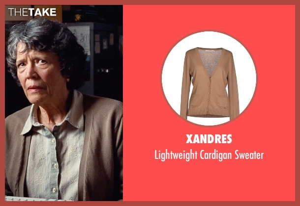 Xandres brown sweater from Cut Bank seen with Unknown Actor (Unknown Character)
