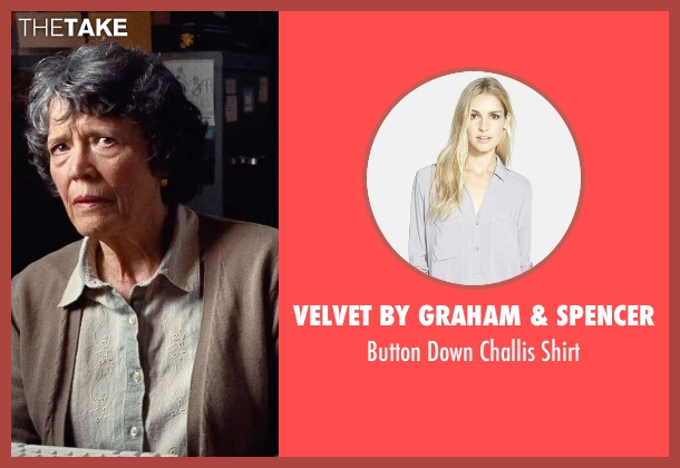 Velvet by Graham & Spencer gray shirt from Cut Bank seen with Unknown Actor (Unknown Character)