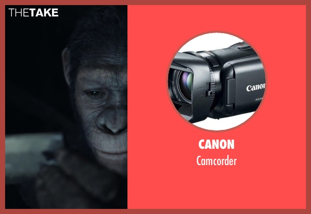 CANON camcorder from Dawn of the Planet of the Apes seen with Unknown Actor (Unknown Character)