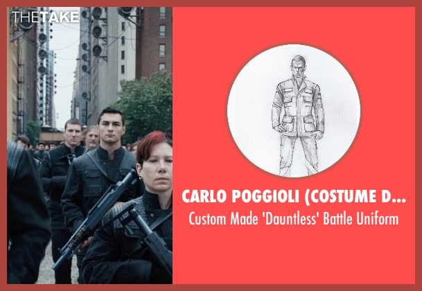 Carlo Poggioli (Costume Designer) black uniform from Divergent seen with Unknown Actor