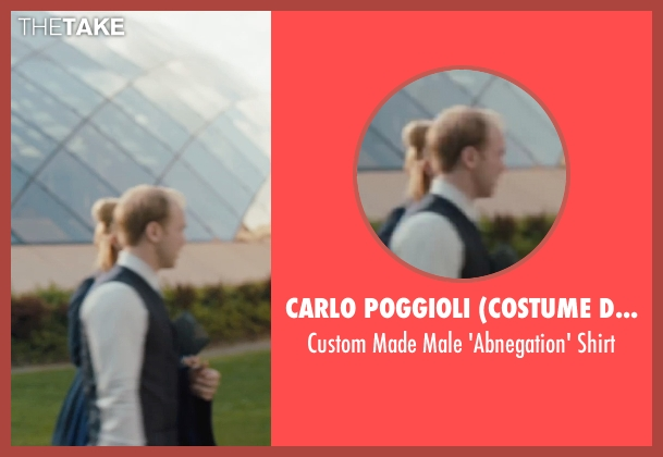 Carlo Poggioli (Costume Designer) white shirt from Divergent seen with Unknown Actor