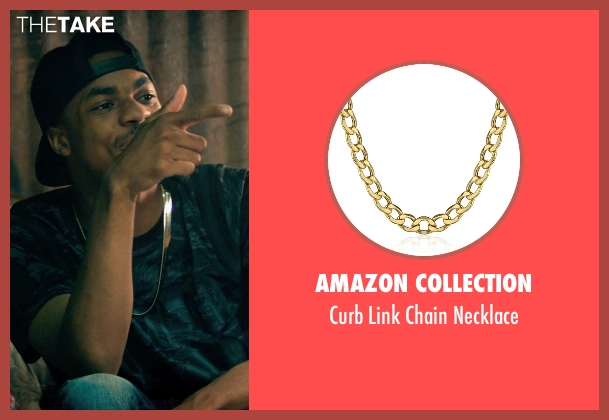 Amazon Collection gold necklace from Dope seen with Unknown Actor (Unknown Character)