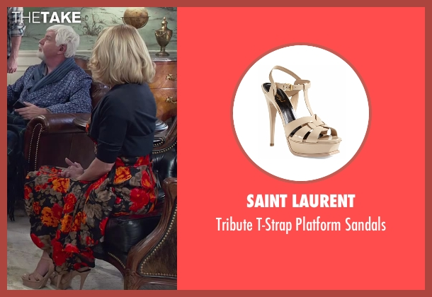Saint Laurent beige sandals from Dumb and Dumber To seen with Unknown Actor (Unknown Character)