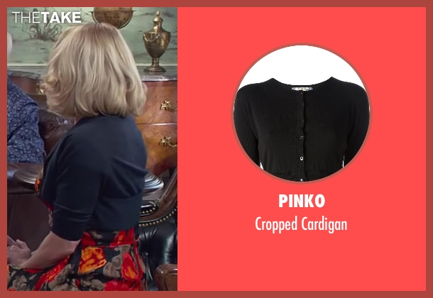Pinko black cardigan from Dumb and Dumber To seen with Unknown Actor (Unknown Character)