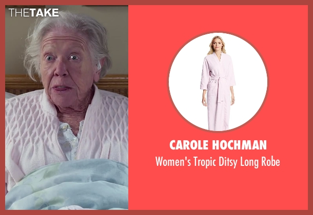 Carole Hochman pink robe from Dumb and Dumber To seen with Unknown Actor (Unknown Character)