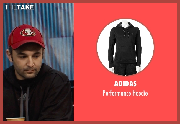 Adidas black hoodie from Entourage seen with Unknown Actor (Unknown Character)